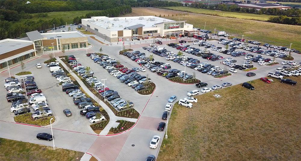 Heath Town Center aerial image